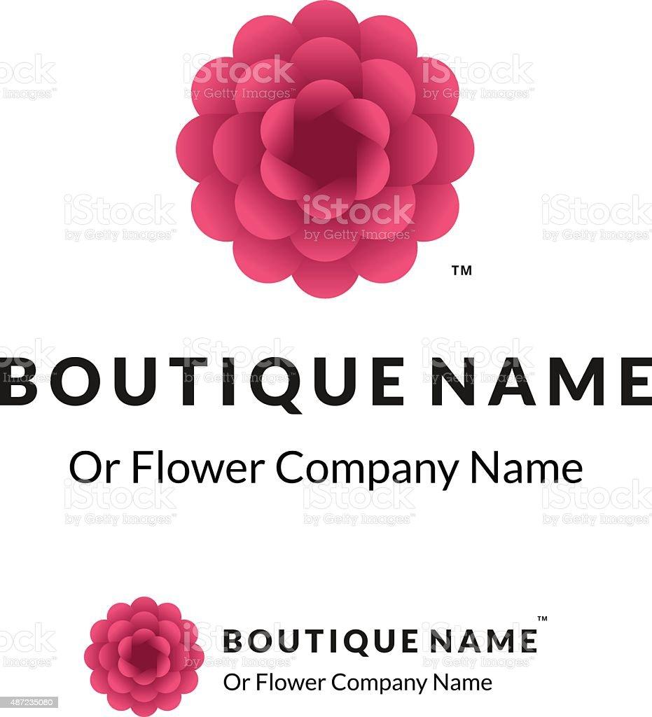 Magnifique Panneau Avec Fleur Rouge Stock Vecteur Libres De Droits