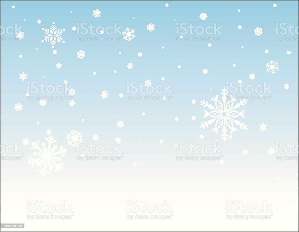 Beautiful Snowfall royalty-free stock vector art
