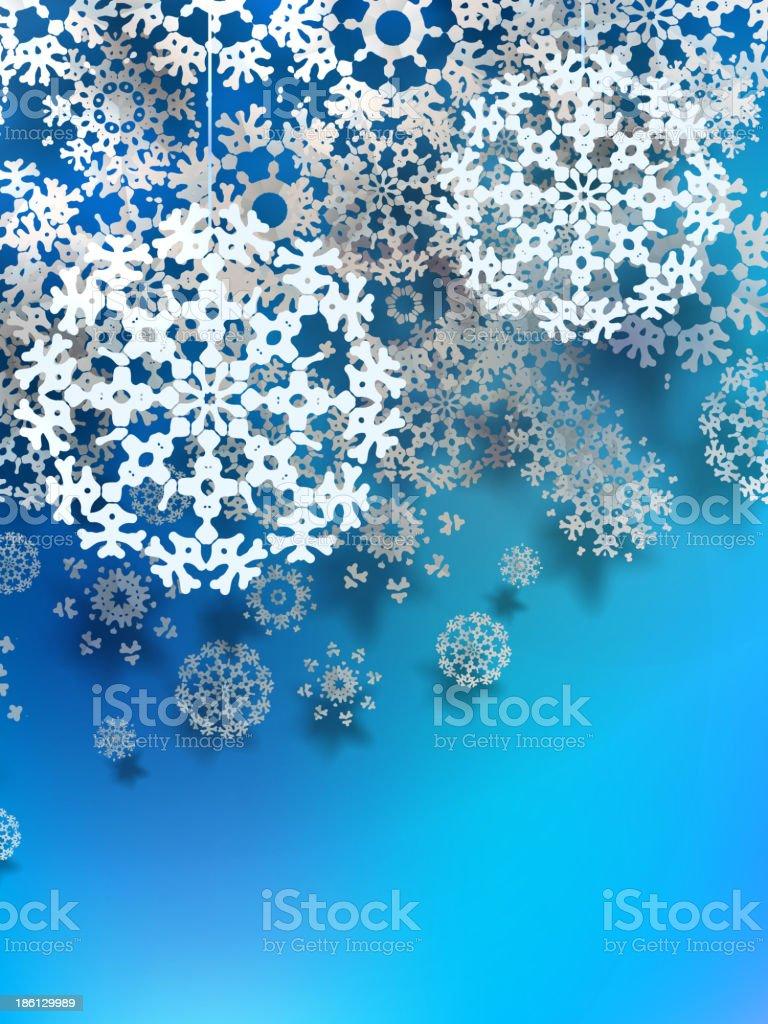 Beautiful snowflake Christmas background. + EPS10 royalty-free stock vector art