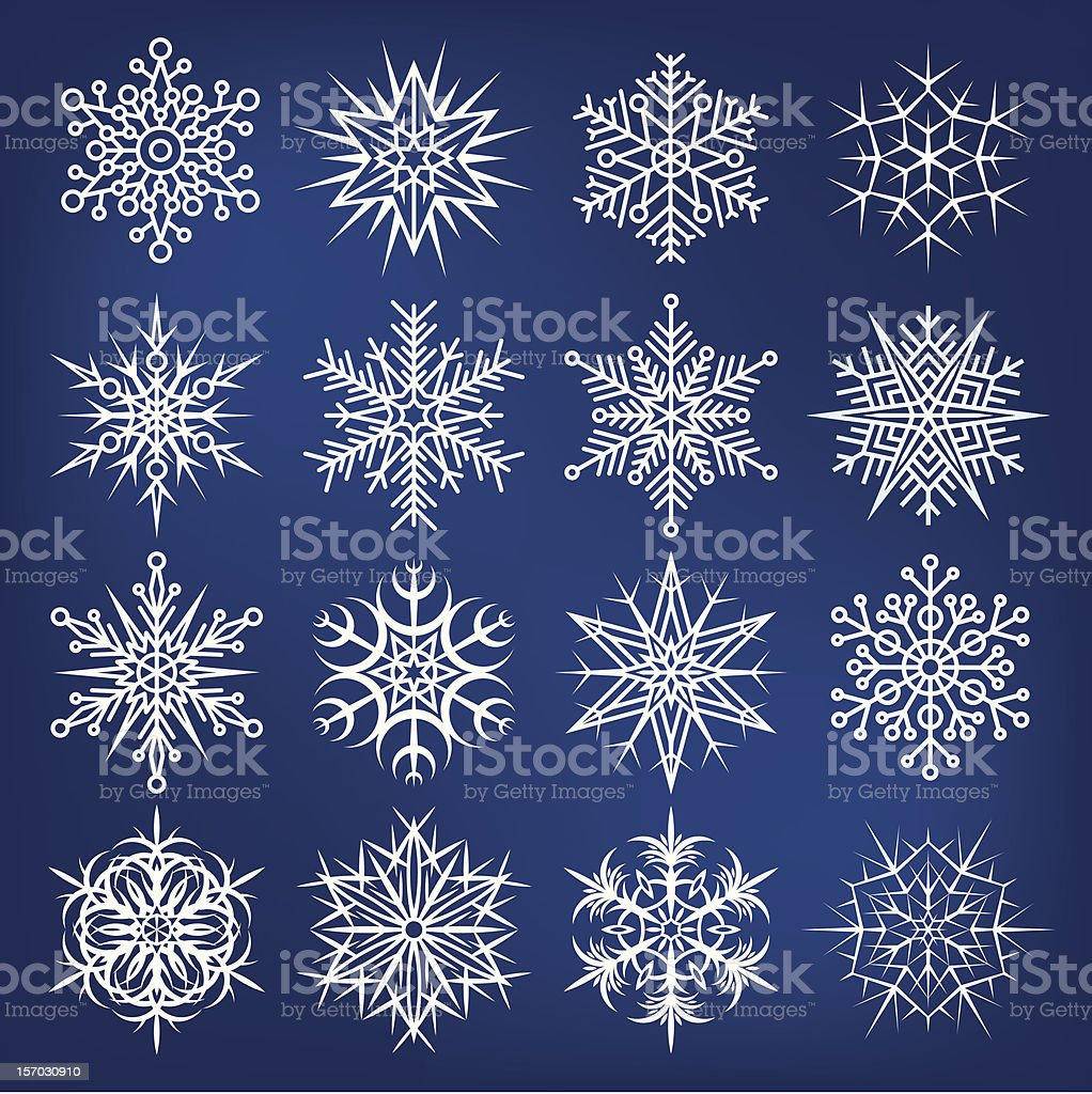 Beautiful snowflakes vector set royalty-free stock vector art