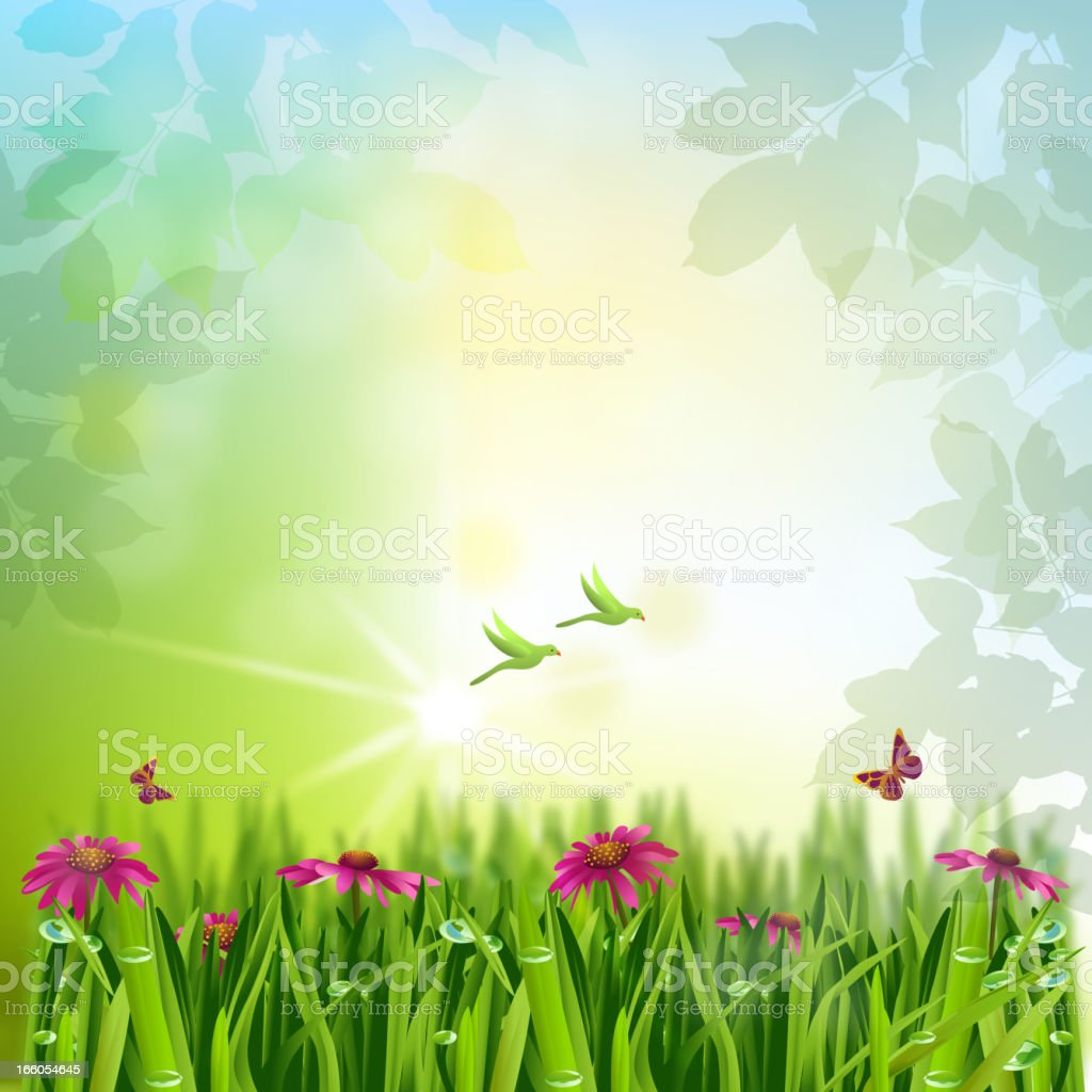 Beautiful Spring background royalty-free stock vector art