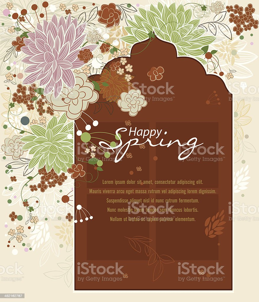 Beautiful Spring Background. royalty-free stock vector art