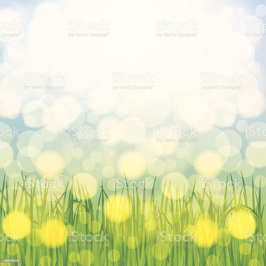 Beautiful spring background vector art illustration
