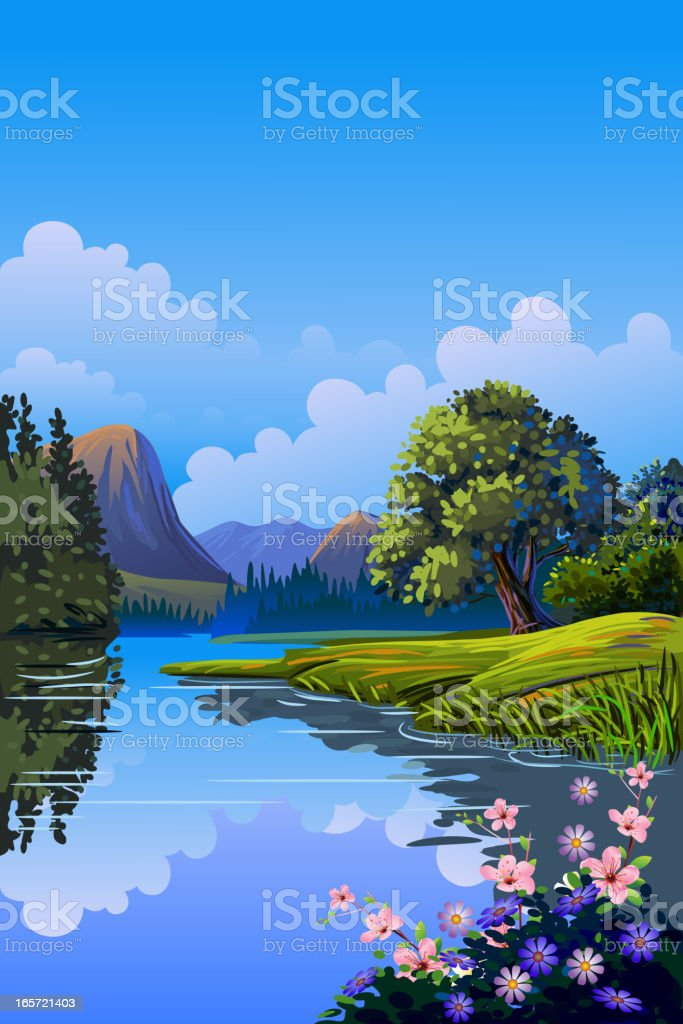 Beautiful Spring Background/Landscape royalty-free stock vector art