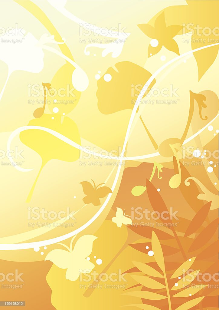beautiful spring_four seasons. royalty-free stock vector art