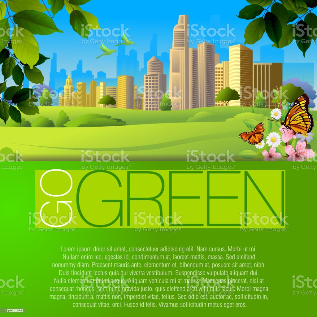 Beautiful Summer Background royalty-free stock vector art