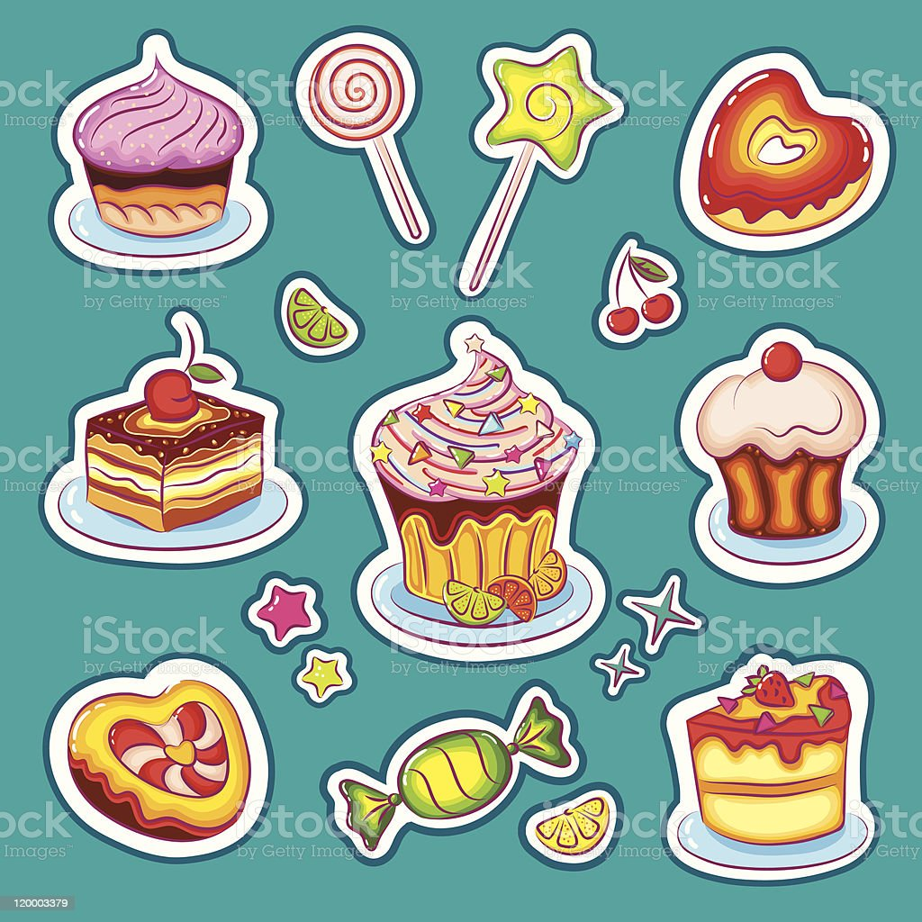 Beautiful Sweets royalty-free stock vector art