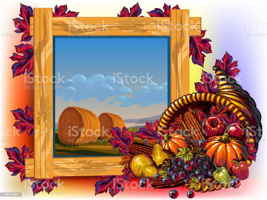 Beautiful Thanksgiving Background royalty-free stock vector art