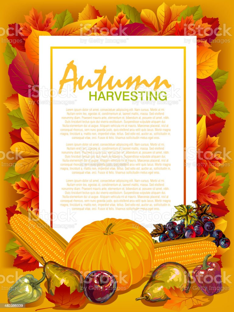 Beautiful Thanksgiving Background vector art illustration