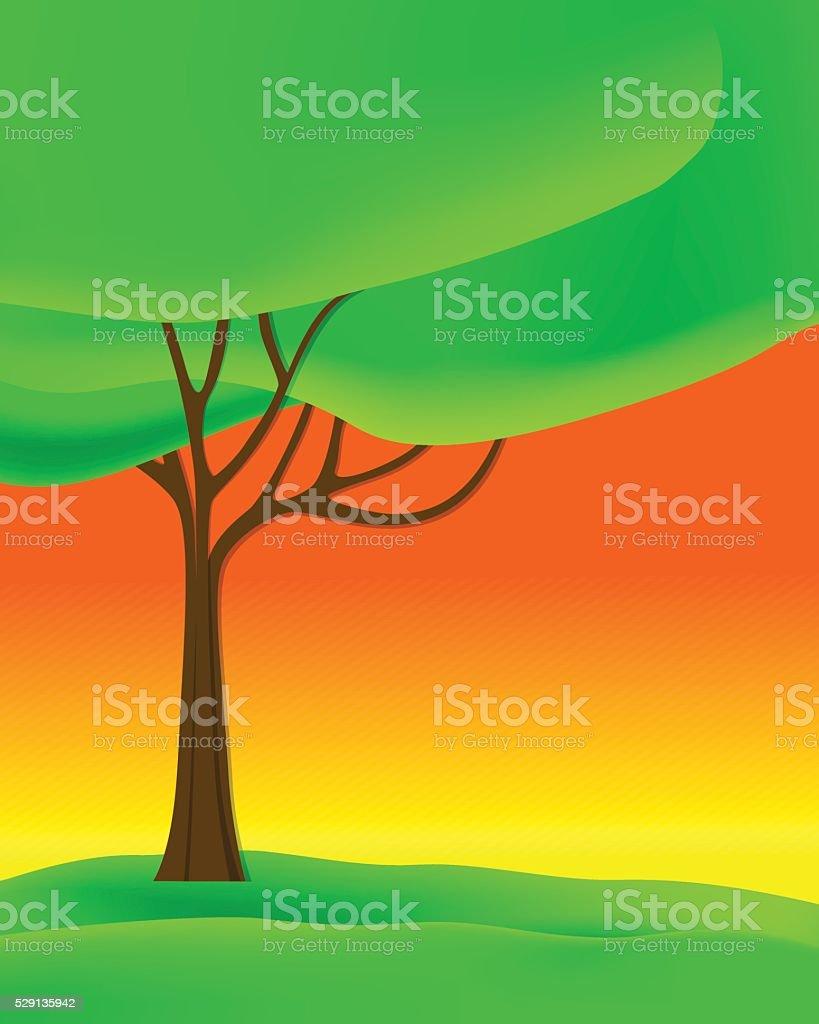 Beautiful Tree vector art illustration