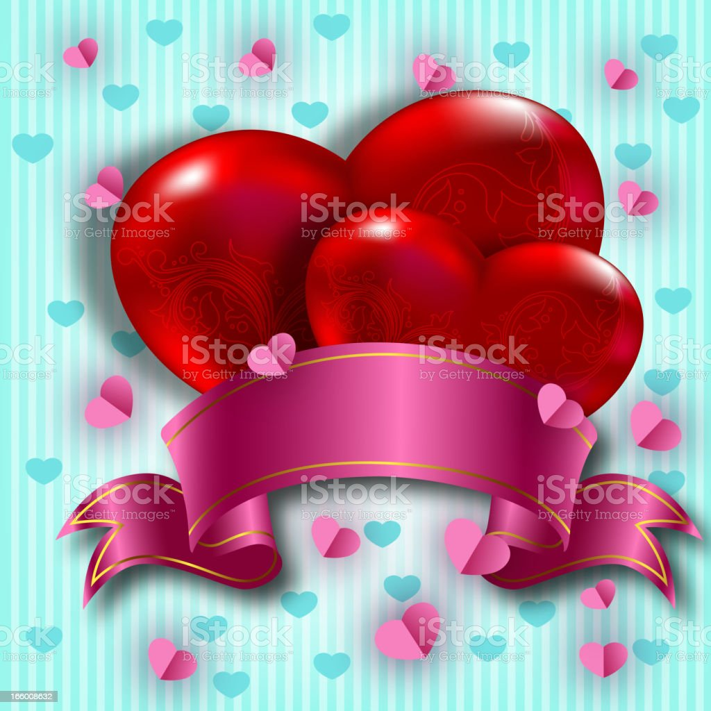 Beautiful Valentine's Day Background royalty-free stock vector art
