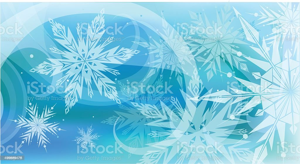 Beautiful vector background with snowflakes, Happy New Year. vector art illustration