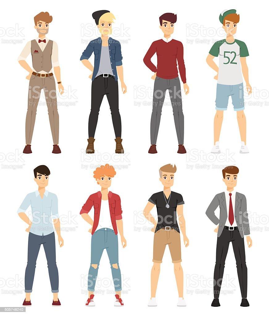 Boy Teenager Fashion Illustration