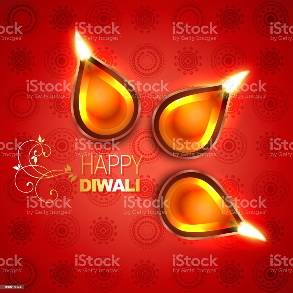 beautiful vector diwali diya royalty-free stock vector art