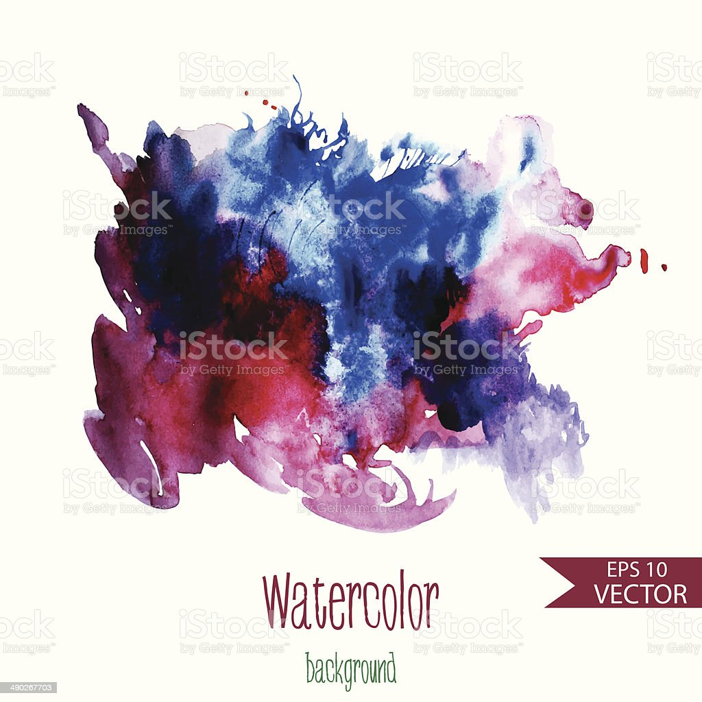 Beautiful vector watercolor background for textures and backgrou royalty-free stock vector art