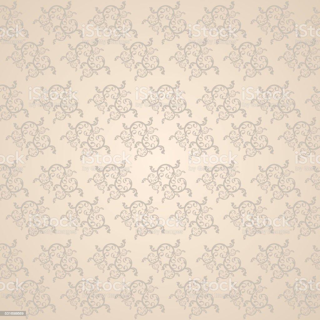 Beautiful vine pattern vector art illustration