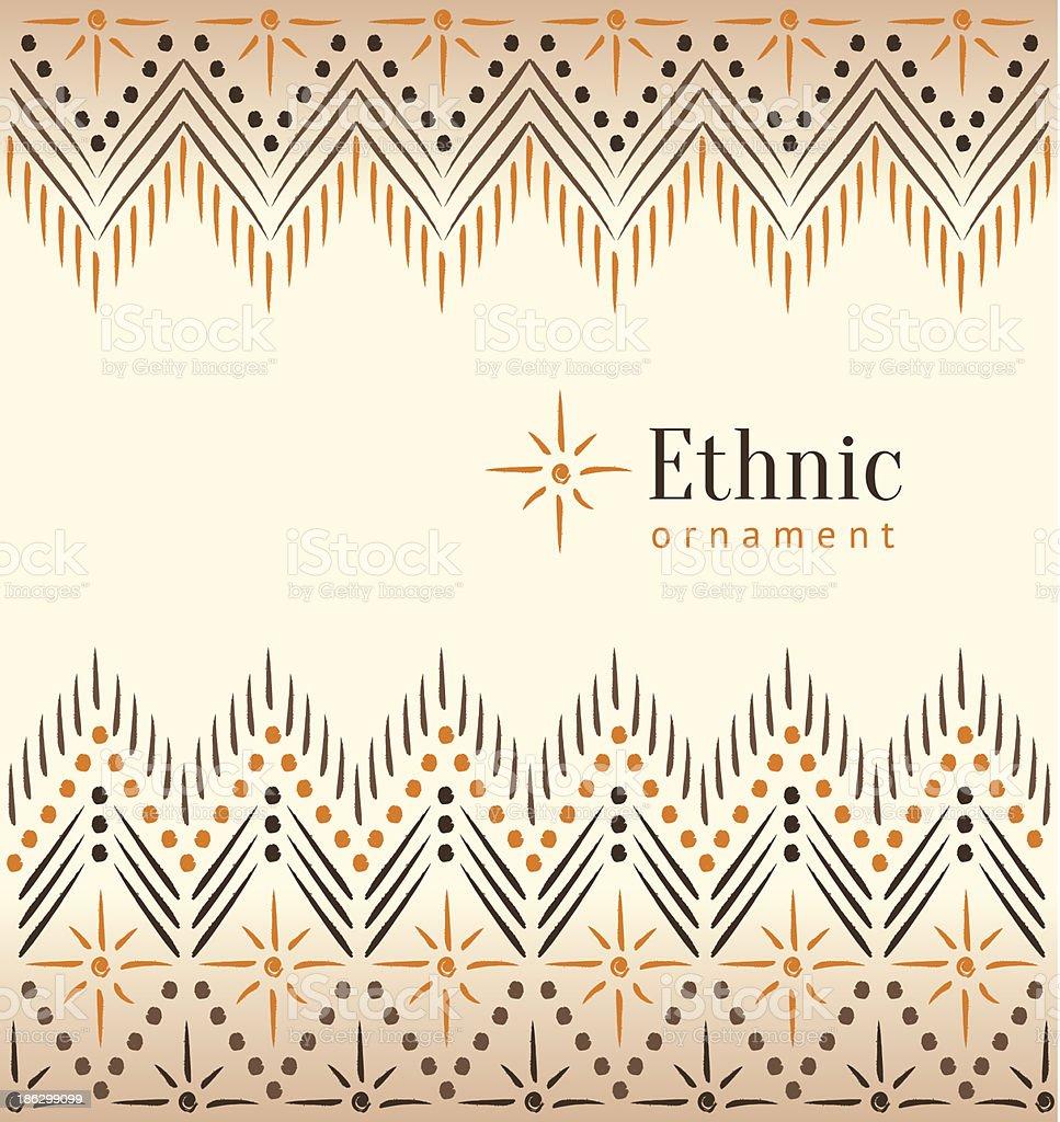 Beautiful vintage ethnic ornament background vector art illustration