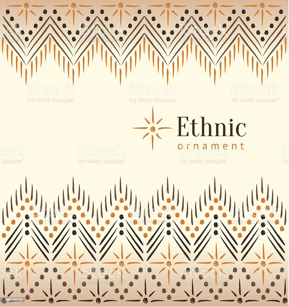 Beautiful vintage ethnic ornament background vector art illustration