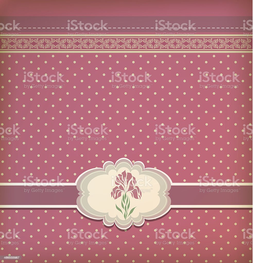 Beautiful vintage greeting card vector royalty-free stock vector art