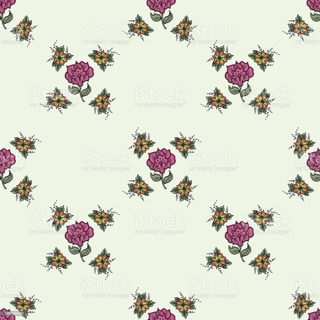 Beautiful vintage seamless floral background royalty-free stock vector art