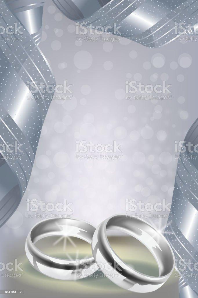Beautiful Wedding Invitation Card royalty-free stock vector art