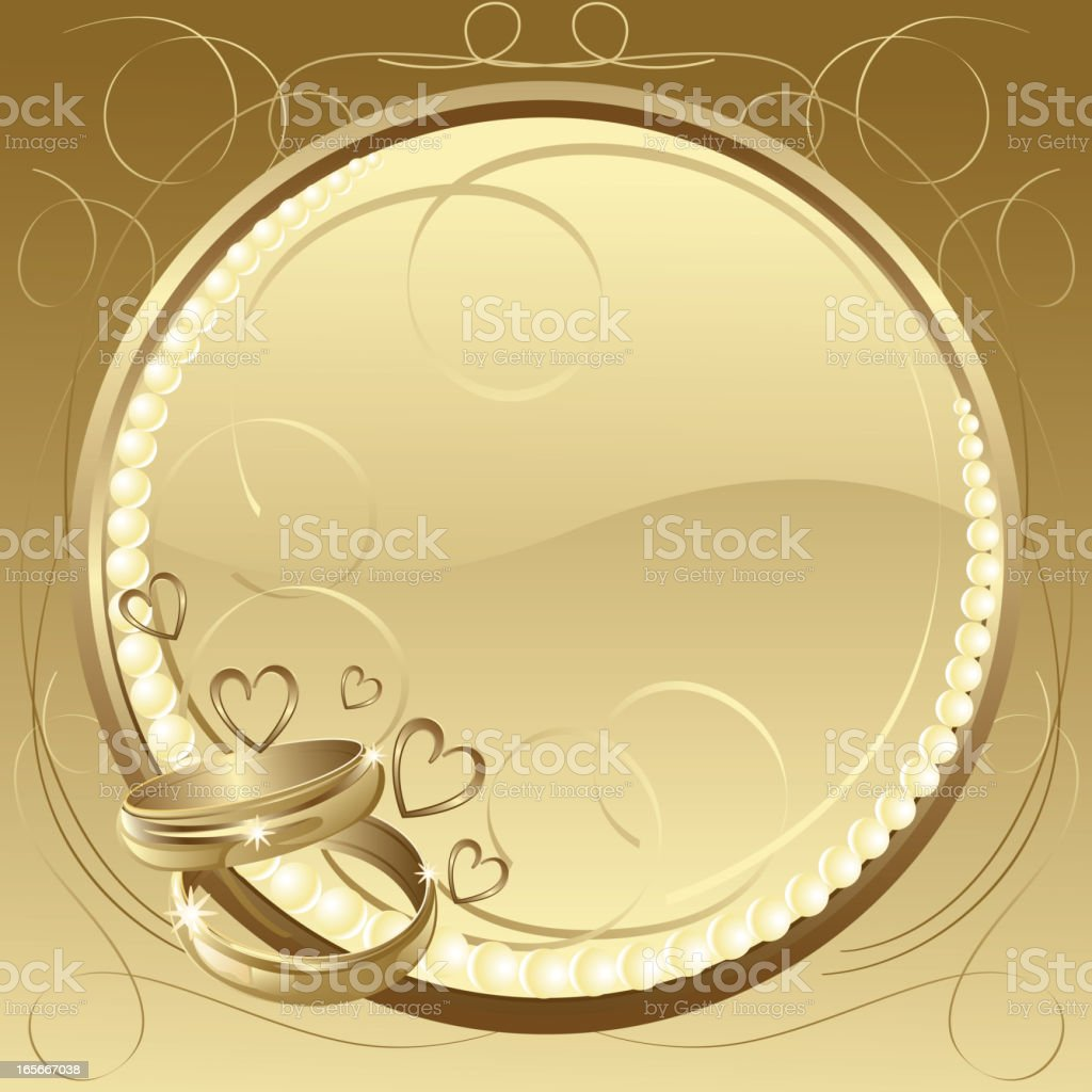Beautiful Wedding Rings/Background vector art illustration