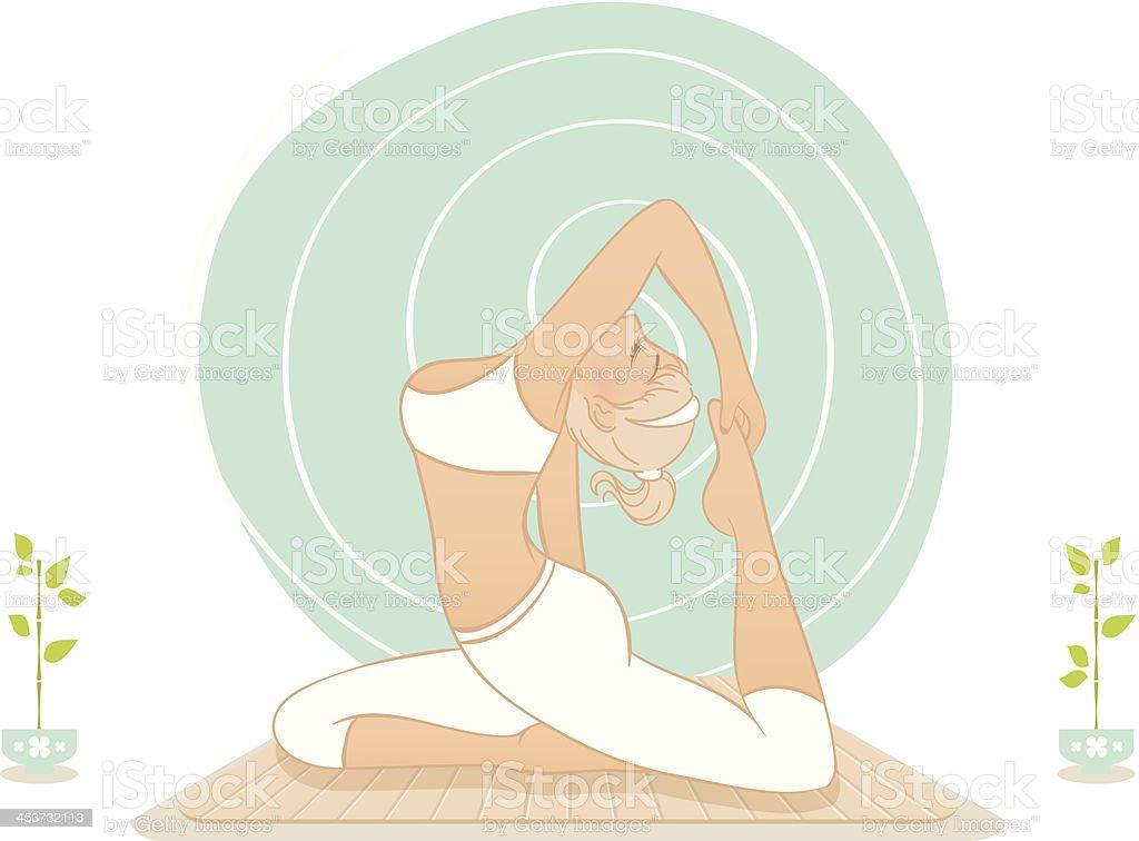 Beautiful woman doing yoga practice royalty-free stock vector art