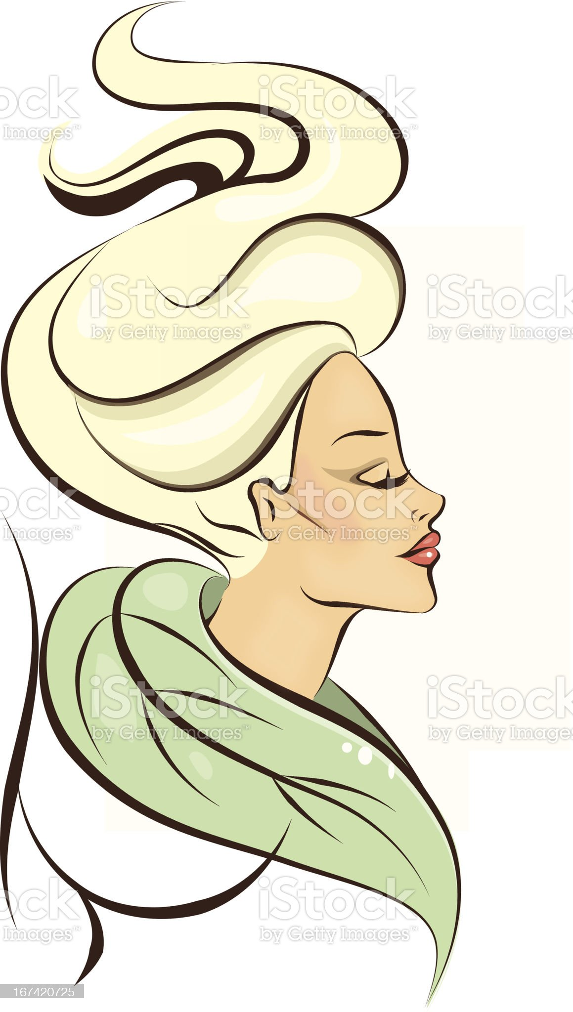 beautiful woman icon royalty-free stock vector art