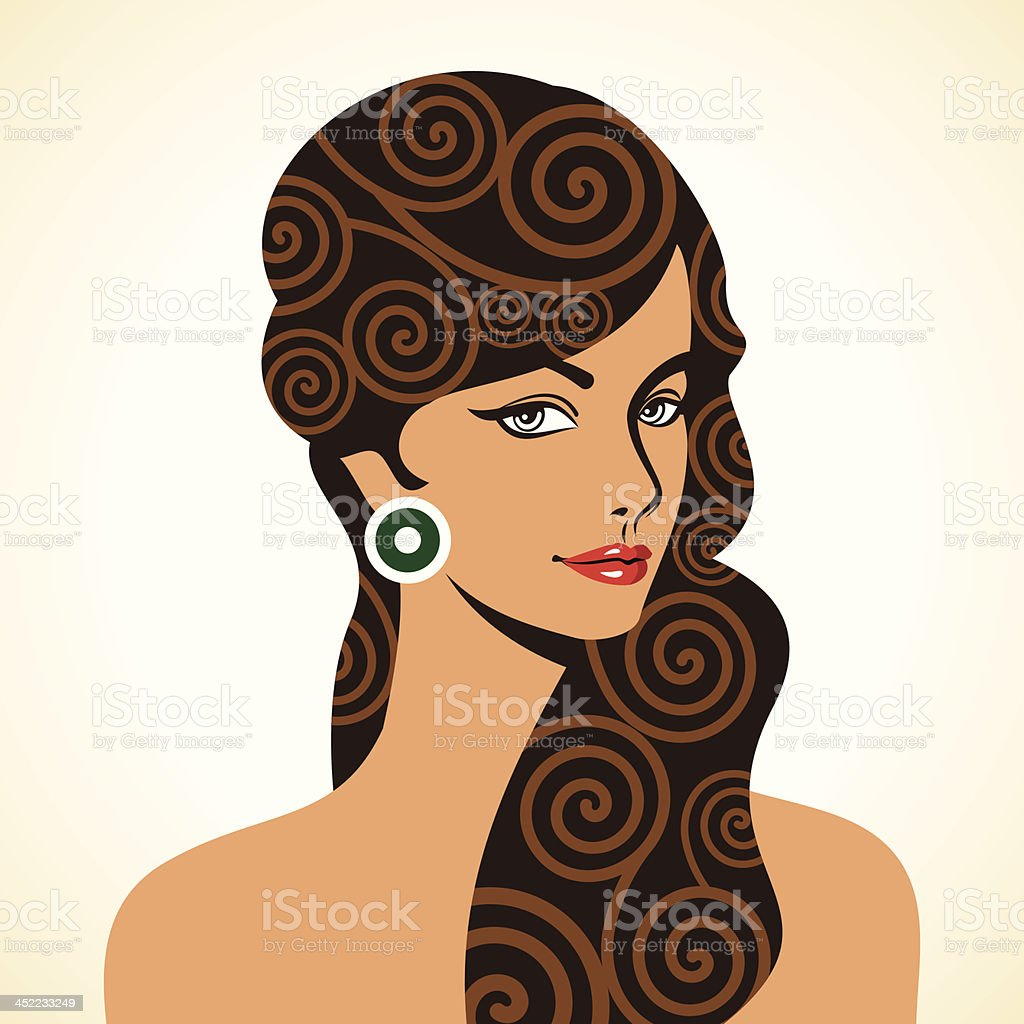 Beautiful woman silhouette royalty-free stock vector art
