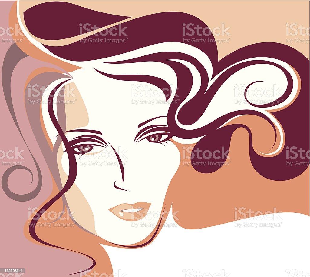 Beautiful woman. royalty-free stock vector art