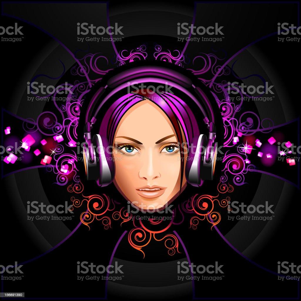 Beautiful woman's face royalty-free stock vector art