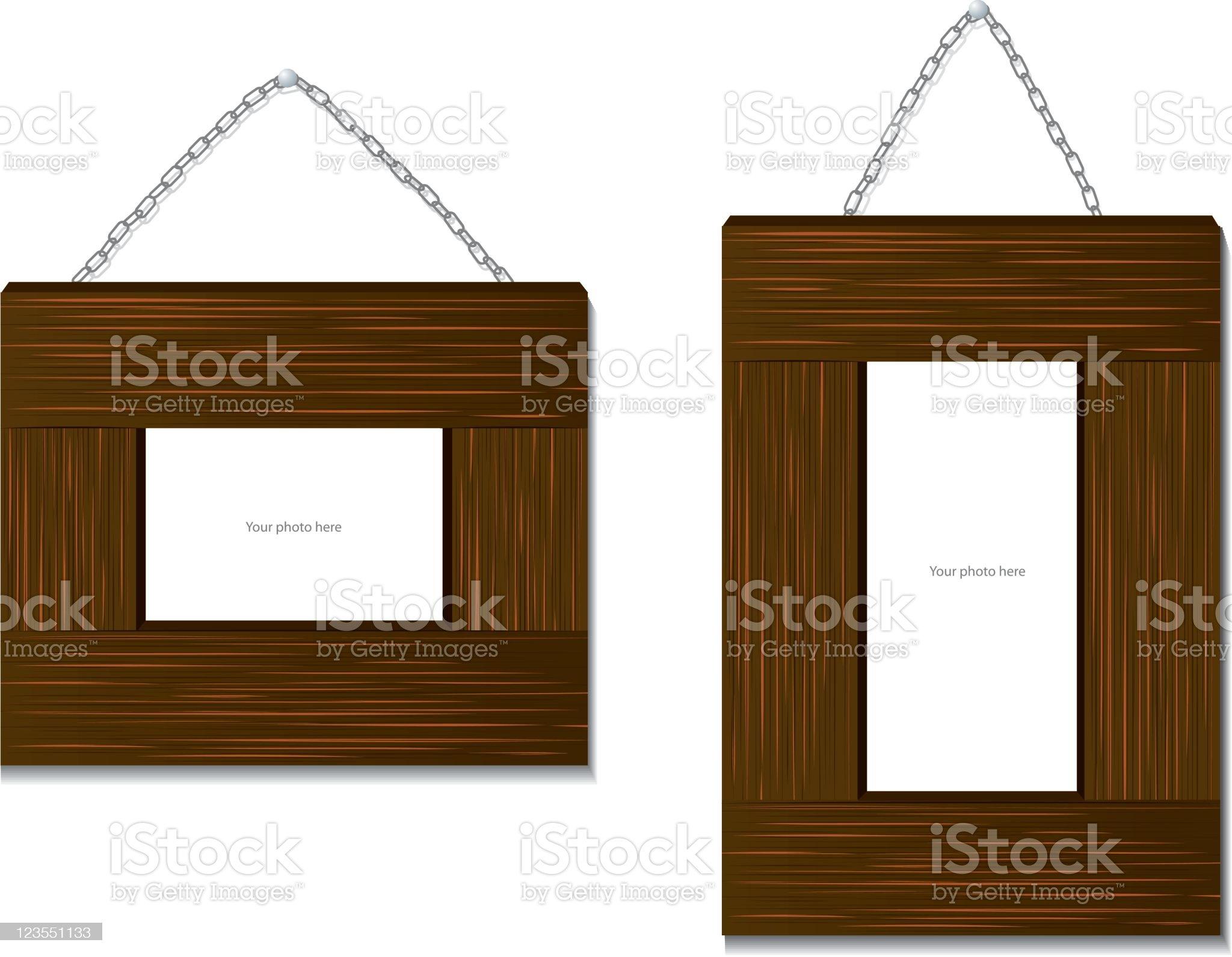 Beautiful Wood Frame royalty-free stock vector art