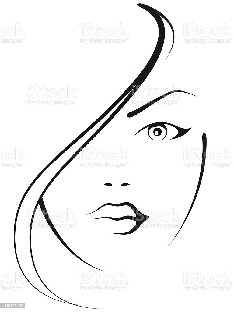beautifulwoman vector art illustration