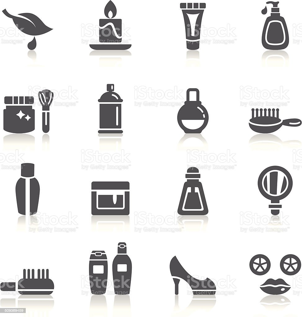 Beauty and Cosmetic Icons vector art illustration