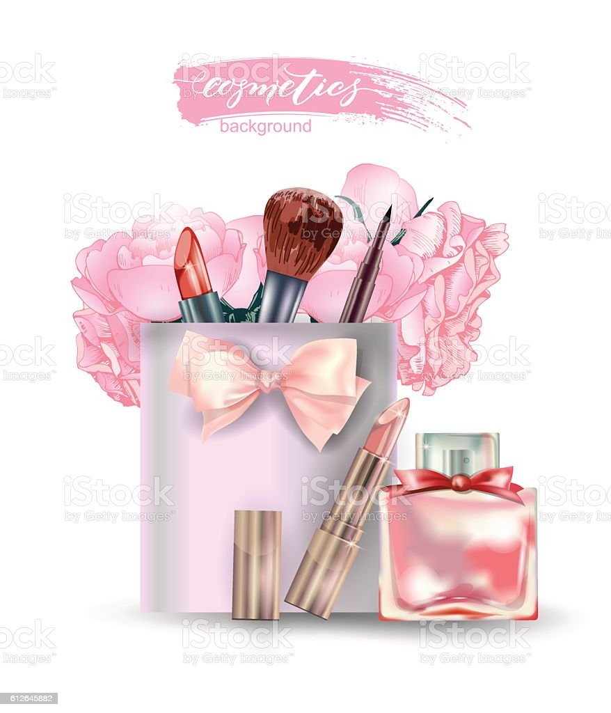 Beauty and cosmetics background. Beauty Concept. Use for advertising...