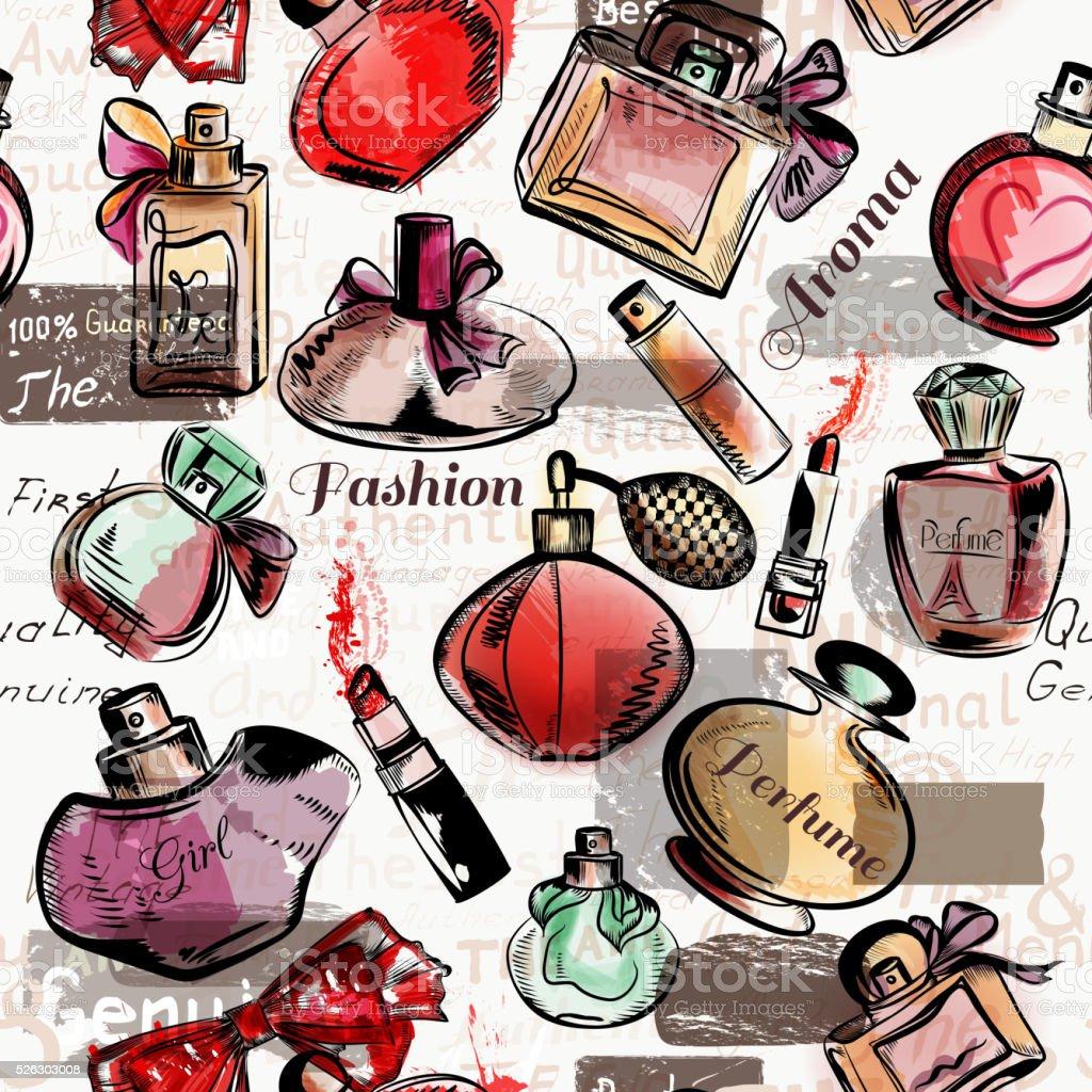 Beauty and fashion vector watercolor cosmetics make up artists o vector art illustration