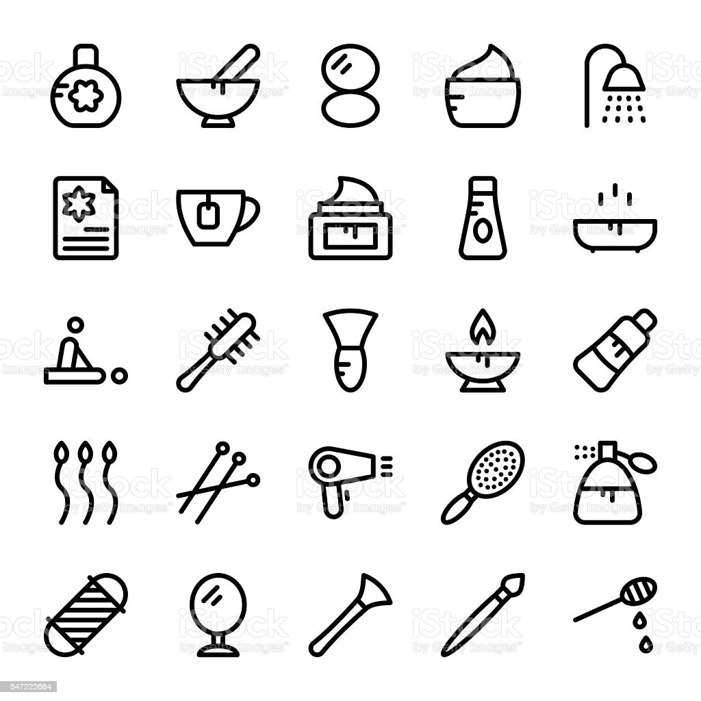 Beauty and SPA Vector Icons 2 vector art illustration
