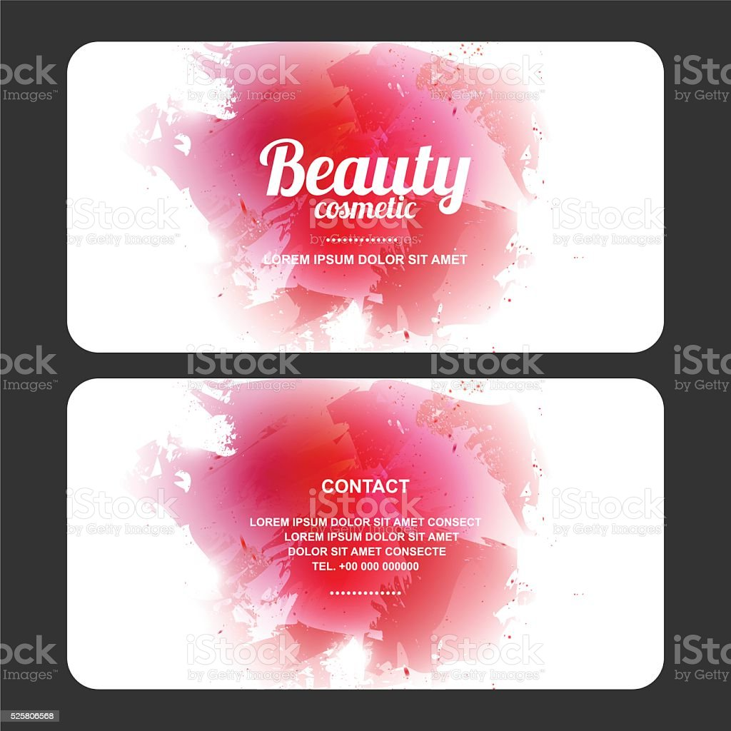 beauty cosmetics design card, vector vector art illustration