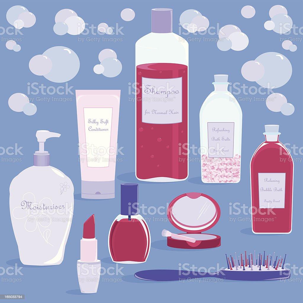 Beauty Essentials - incl. jpeg royalty-free stock vector art