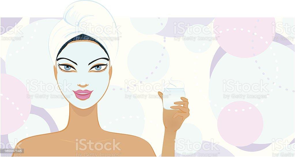 Beauty Mask Girl royalty-free stock vector art