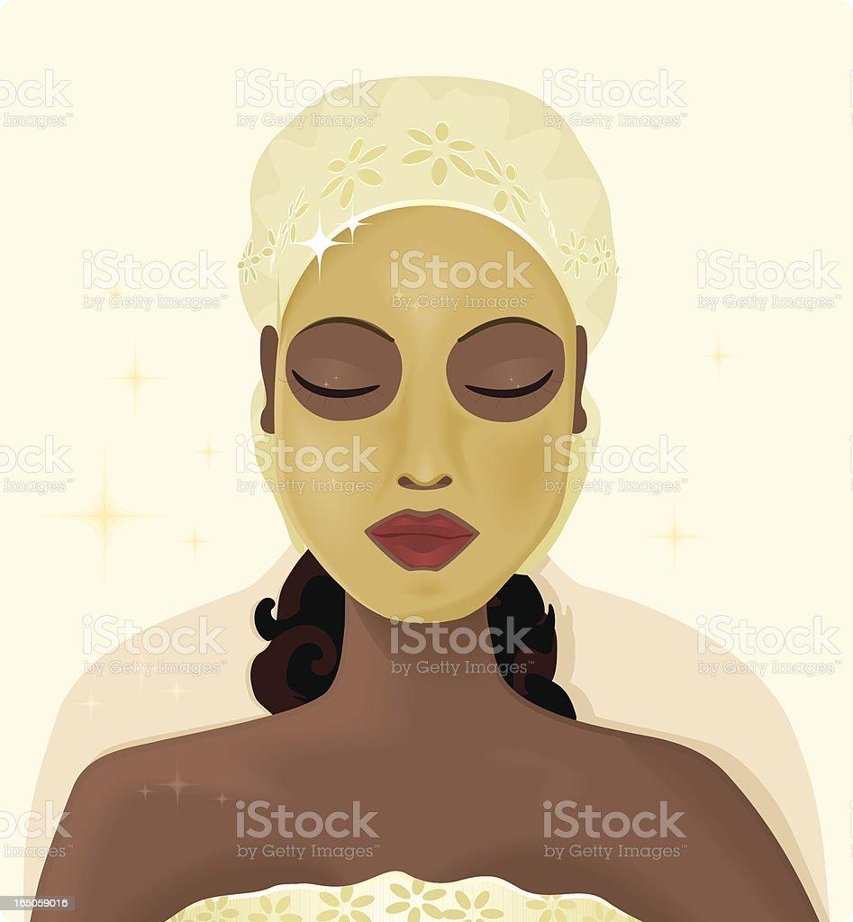 Beauty Mask vector art illustration