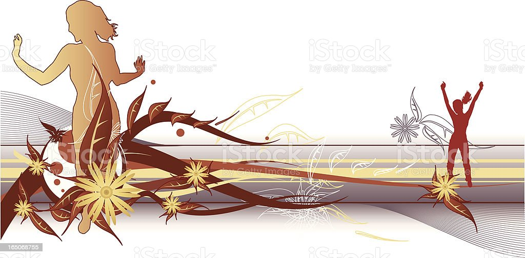 Beauty 'n Nature royalty-free stock vector art
