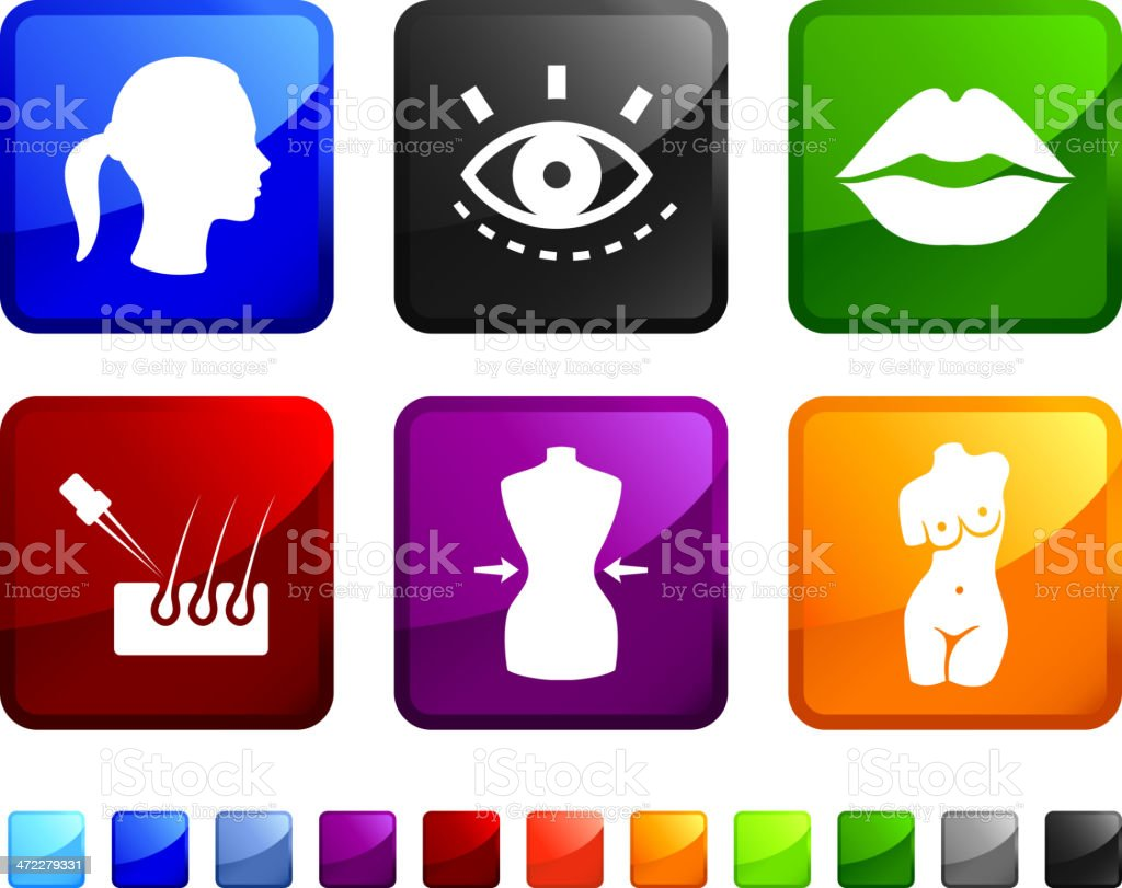 Beauty Products royalty free vector icon set vector art illustration