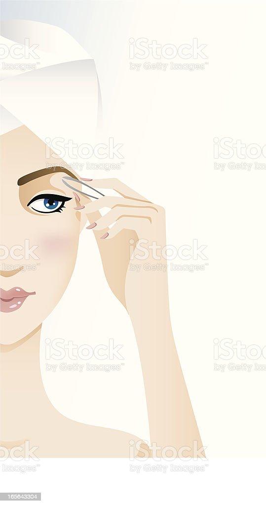 Beauty regime - eyebrows vector art illustration