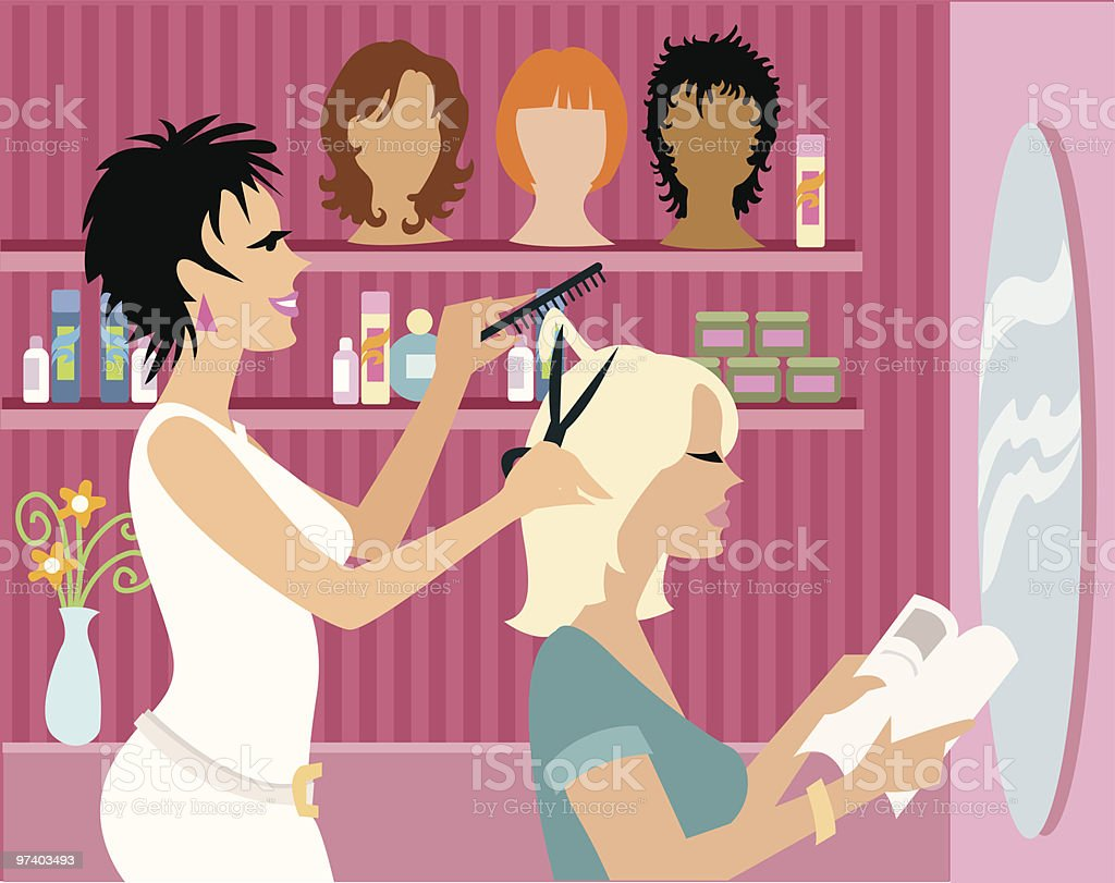 Beauty Salon royalty-free stock vector art