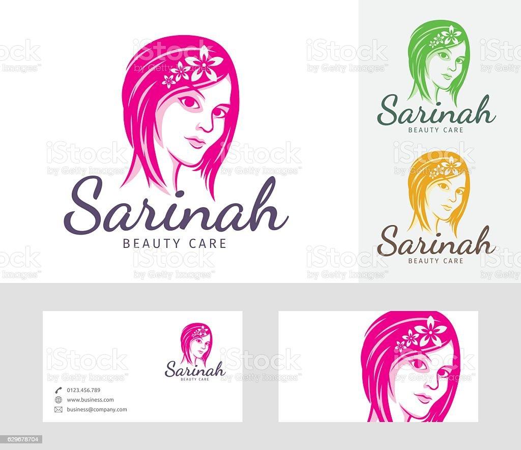 Beauty Salon vector logo vector art illustration