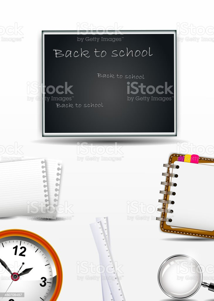 beauty School supplies for you design royalty-free stock vector art