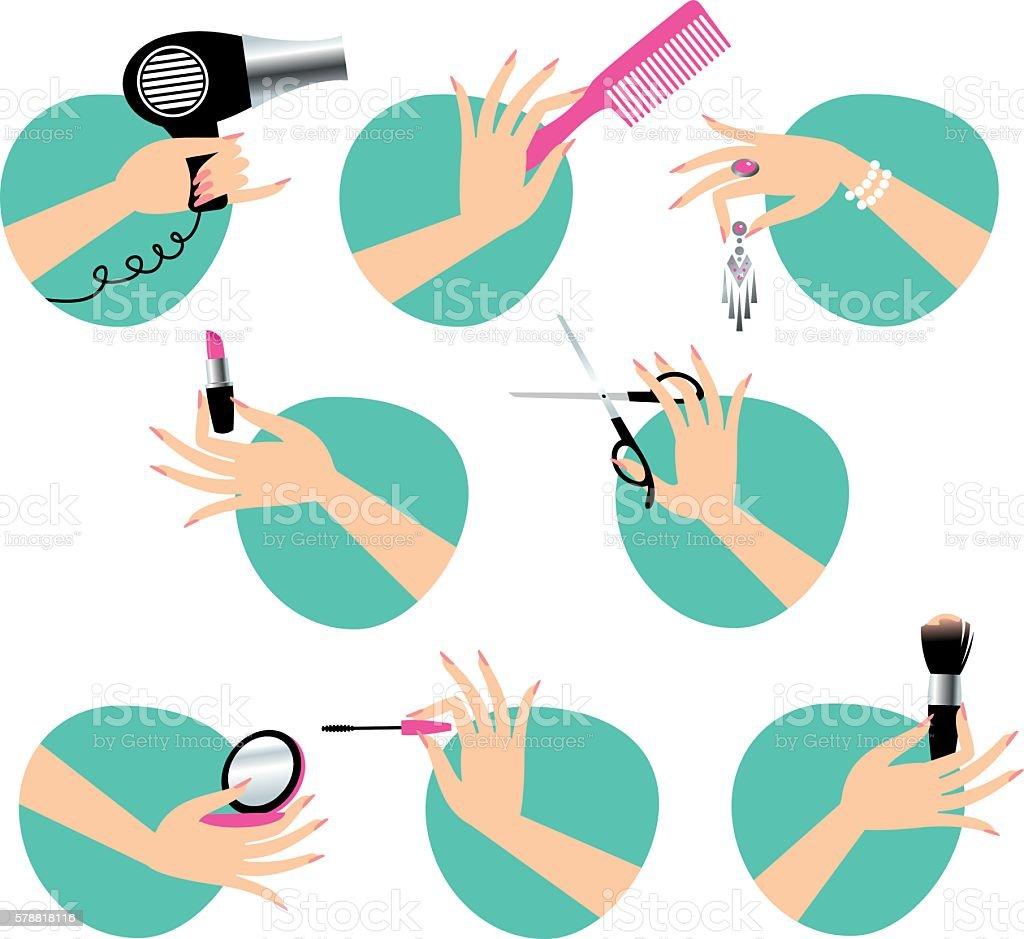 Beauty service vector art illustration