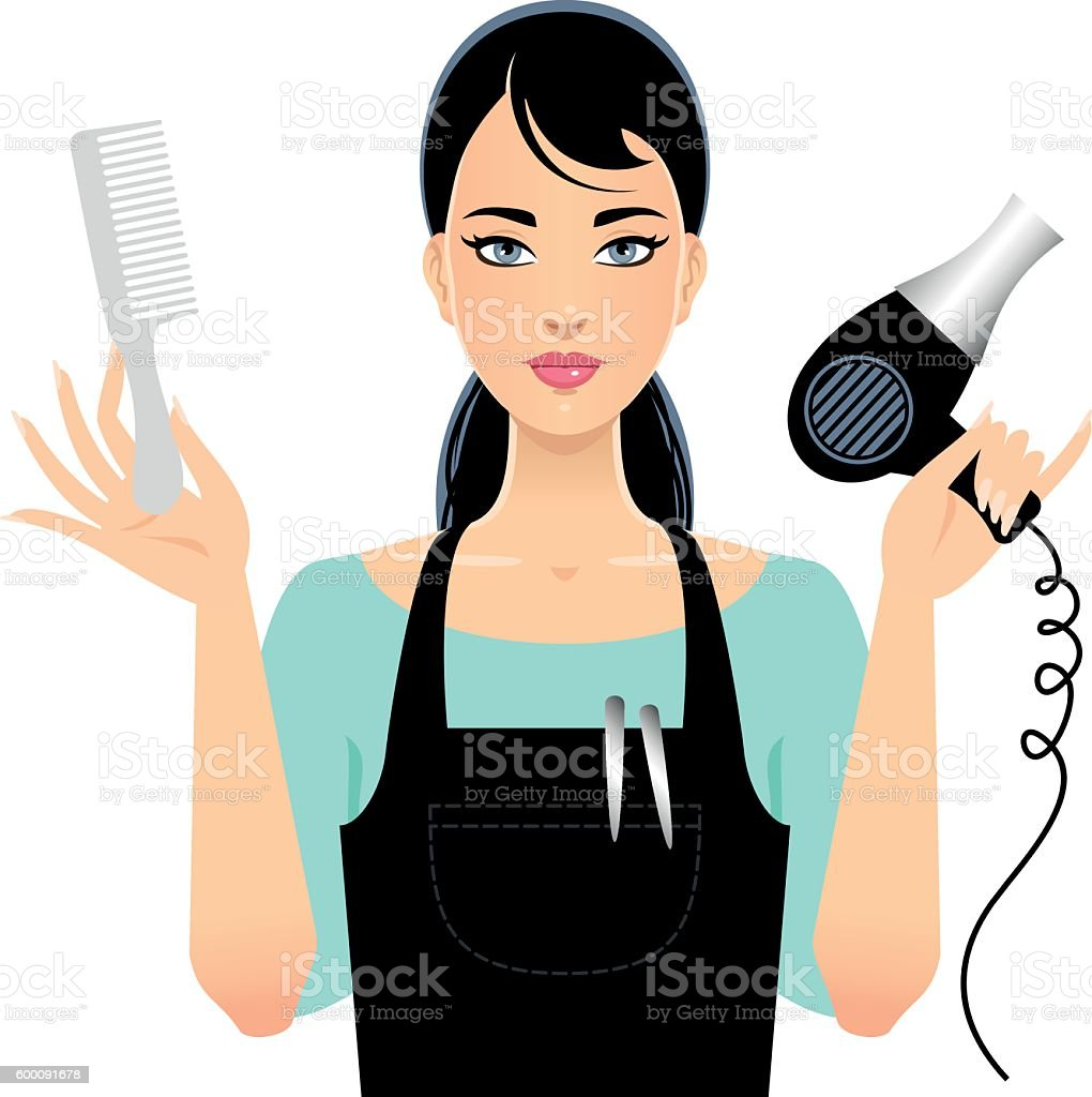 Beauty stylist vector art illustration