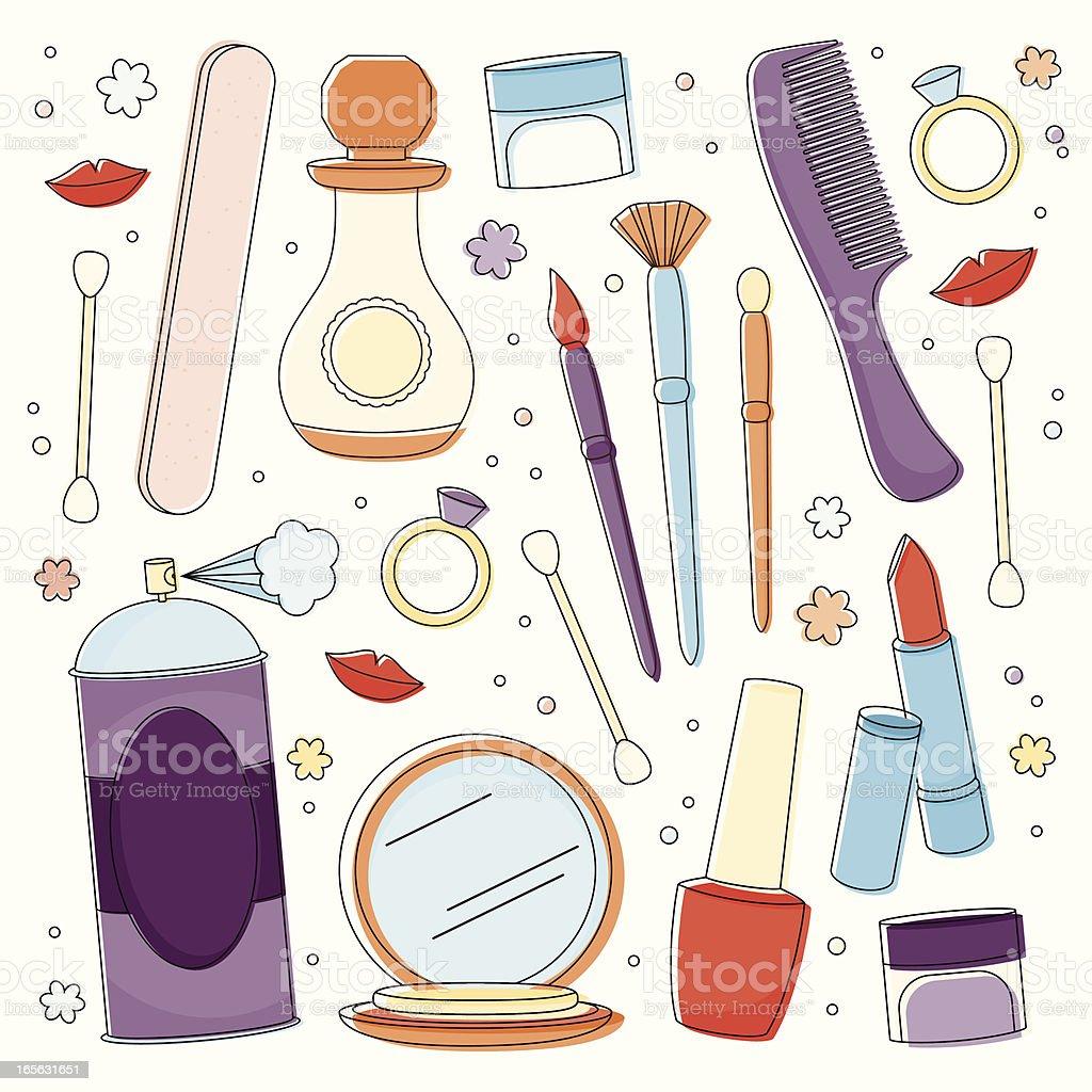 Beauty Supplies royalty-free stock vector art